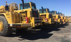 Mining contractors on site