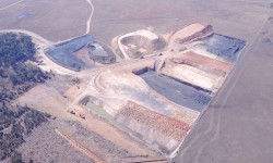 Plan view of the mine